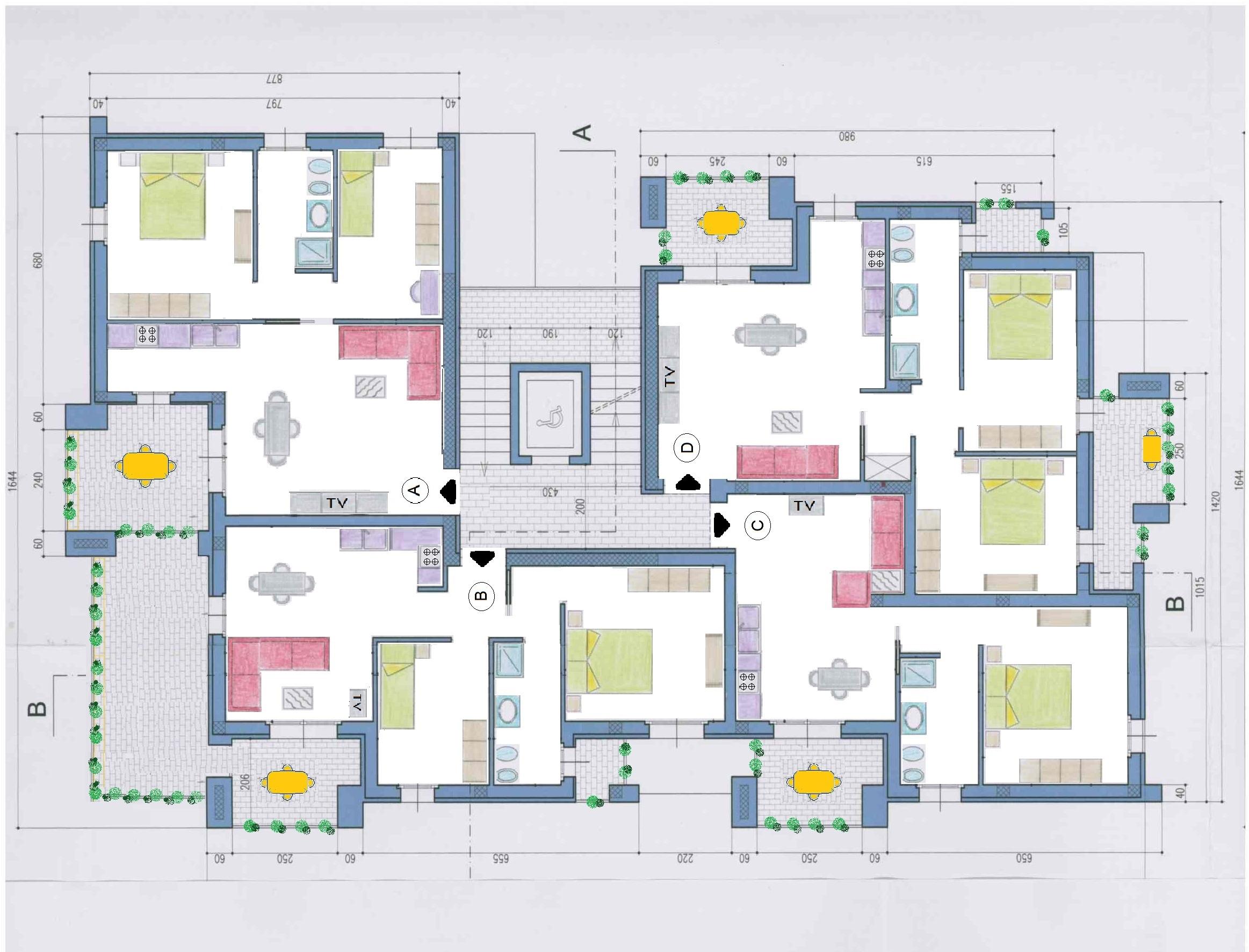 Appartamenti tipo b edilizia nunziatini immobili in for Piano terra con 3 camere da letto con garage